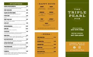 Olive Pub Takeout Menu