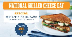 Grilled Cheese Special Facebook Post