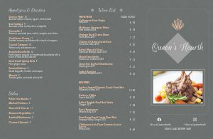 Royal Fine Dining Folded Menu