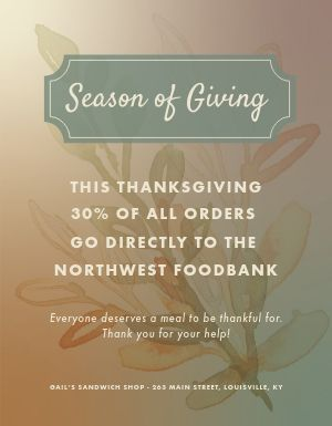 Thanksgiving Charity Flyer