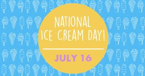 National Ice Cream Day Facebook Post