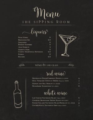Simple Bar Menu