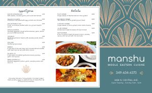 Middle Eastern Hotel Takeout Menu