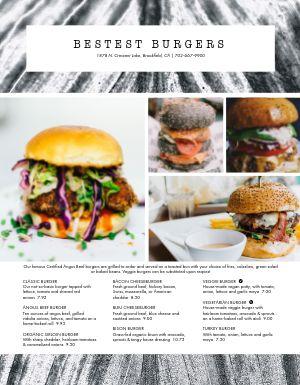 Best Burger Menu