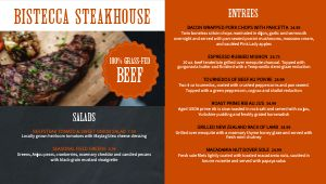Simple Steakhouse Digital Menu Board