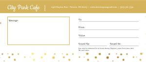 Celebration Gift Certificate