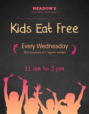 Kids Eat Free Flyer