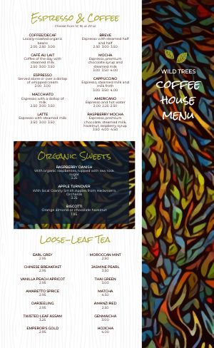 Painted Coffee Menu