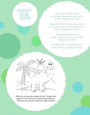 Dots Kids Menu