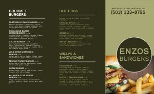 Green Burger Takeout Menu