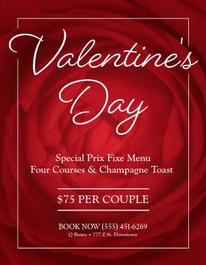 Valentines Menu Flyer