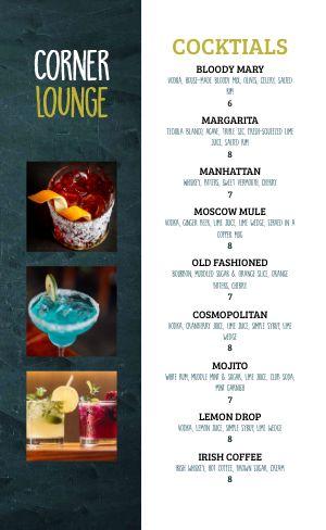 Cocktail Lounge Menu