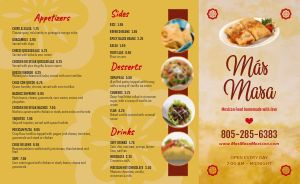 Example Mexican Takeout Menu