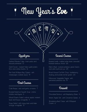 Navy New Years Menu