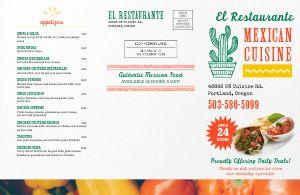 Restaurant Takeout Menu Mailer