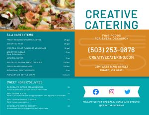 Colorful Catering Bifold Takeout Menu