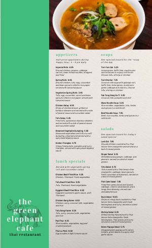 Emerald Thai Menu