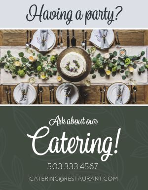 Party Catering Flyer