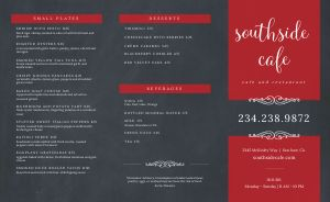 Cafe Gray Takeout Menu