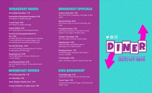 Neon Diner Takeout Menu
