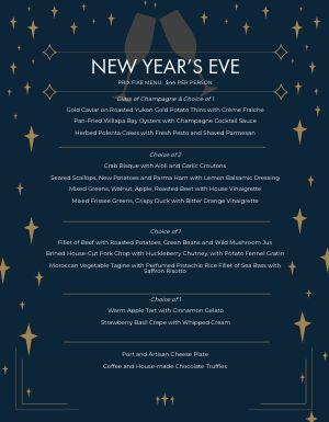 New Years Starlight Menu