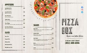 Local Pizza Takeout Menu
