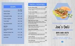 Basic Deli Takeout Menu