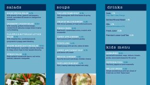 Azure Cafe Digital Menu Board