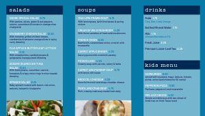 Azure Cafe Digital Menu Board