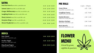 Recreational Dispensary Digital Menu Board
