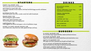 Burgers Digital Menu Board