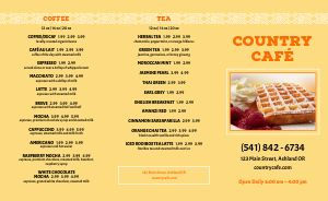 Country Breakfast Takeout Menu