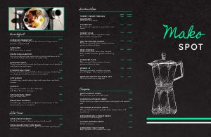 Electric Coffee Folded Menu