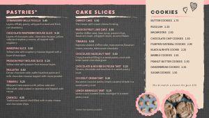 Bakery Digital Menu
