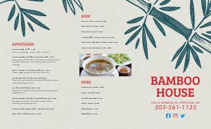Chinese Eatery Takeout Menu