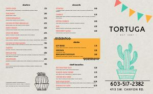 Favorite Mexican Takeout Menu