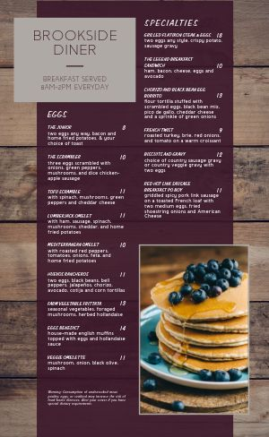 Tasty Breakfast Menu
