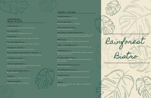Bistro Fine Dining Folded Menu