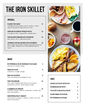 Clear Breakfast Menu