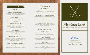 Classic Country Club Takeout Menu