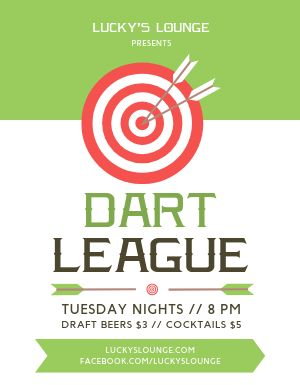 Dart League Flyer