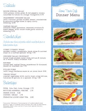 Homestyle Cafe Menu