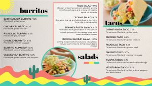 Mexican Digital Menu Board