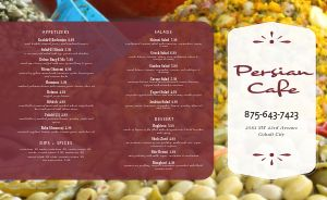 Middle Eastern Fruits Takeout Menu