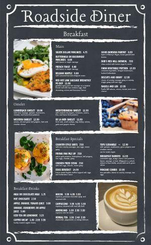 Gray Diner Menu