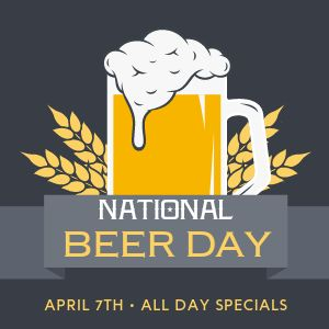 National Beer Day Instagram Post