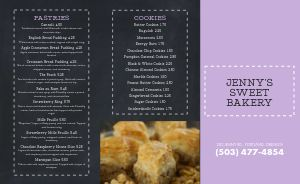 Dotted Cake Bakery Takeout Menu