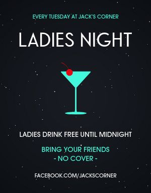 Ladies Night Weekly Flyer