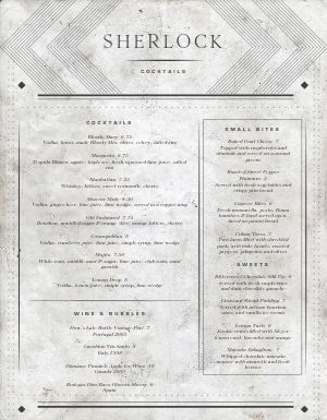 Granite Bar Menu