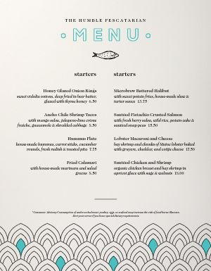 Beachside Cafe Menu